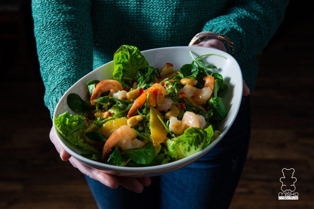 salata z krewetkami siemiatycze